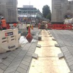 Envivo_Christchurch_Structural_engineering_Bridge_of_Remembrance_paving_upgrade_construction