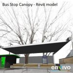 Envivo_enginering_modelling_Revit_model_bus_stop_canopy