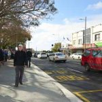 Mt Albert town centre opening footpath