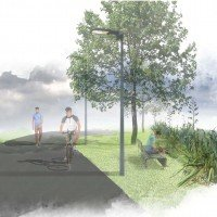 An artist's impression of the Avon Loop credit: Ōtākaro Limited